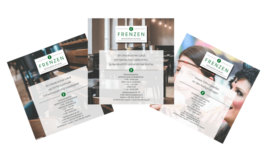 Frenzen Restaurant Flyer